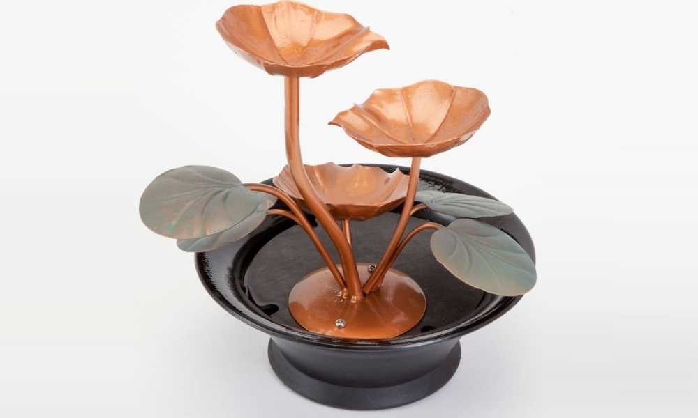 The Bits and Pieces - Indoor Water Lily Water Fountain