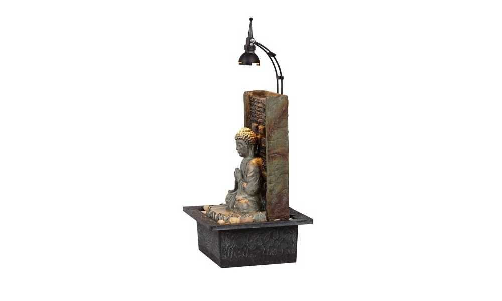The Namaste Buddha 11 High Indoor Table Fountain